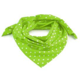 Dámský Bavlněný šátek s puntíky 65 cm Hráškový
