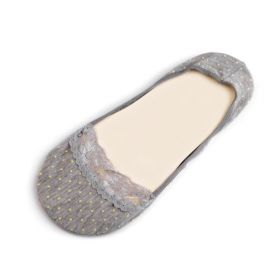 Puntíkové ponožky do balerín Šedé