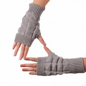 Pletené bezprsté rukavice Šedé