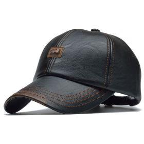 ANG-E koženková kšiltovka Jamont Černá