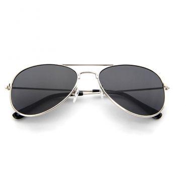 Sluneční brýle Aviator stříbrný rám kouřové sklo