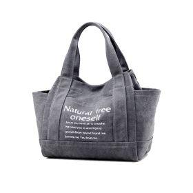 Dámská plátěná kabelka Oneself - šedá