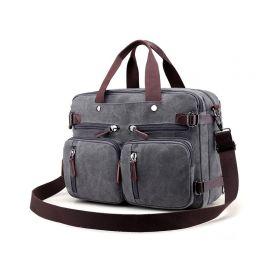 Pásnká plátěná taška crossbody Savior šedá