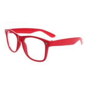 Nedioptrické brýle wayfarer červené