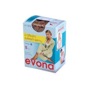 Evona Silonové ponožky 20 den 5 párů  Hnědé