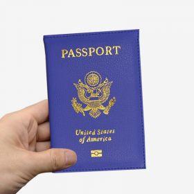Pouzdro na cestovní pas United States of America modré