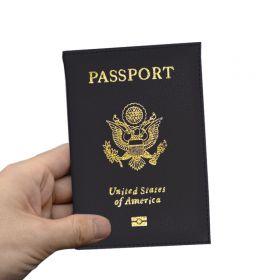 Pouzdro na cestovní pas United States of America černé