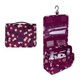 Toaletní taška cestovní Travel Bordó květ