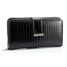Jennifer dámská Lakovaná peněženka černá 16cm