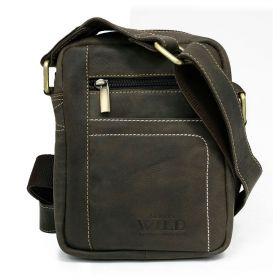 Always Wild pánská kožená taška Hnědá