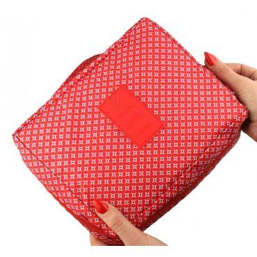 TRAVEL Kosmetická taštička červený triangl