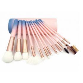 Set 12 kusů ombre kosmetických štětců v tubě