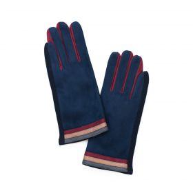 ArtOfPolo dámské rukavice Tři pruhy Modré