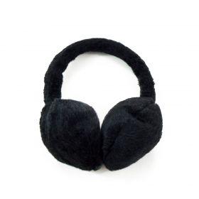 Plyšové klapky na uši Černé