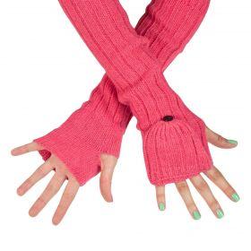 ArtOfPolo dlouhé rukavice bez prstů flip-flop Růžové