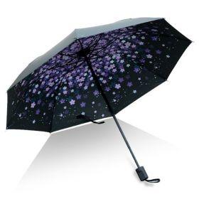 Dámský skládací deštník  Fialové květy