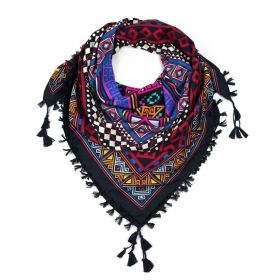 ArtOfPolo Aztécký šátek 115cm Černý