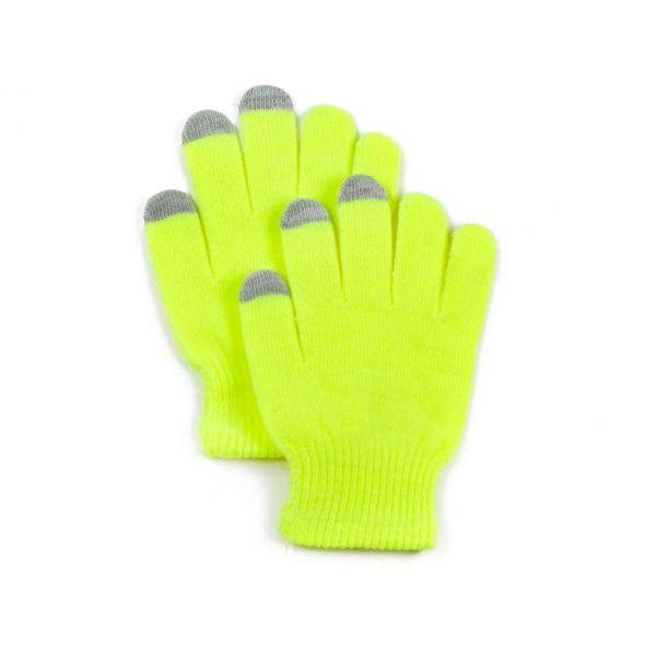 Rukavice na dotykový displej  Žluté