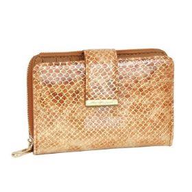Jennifer Jones dámská kožená peněženka Zlatá