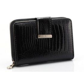 Jennifer Jones dámská kožená peněženka Černá