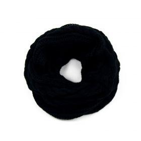 ArtOfPolo kruhový pletený šál Černý