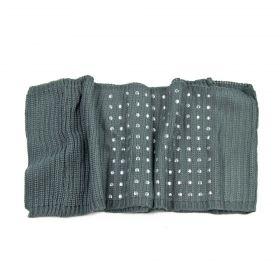 ArtOfPolo kruhový pletený šál s cvoky Šedý