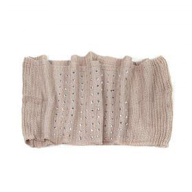 ArtOfPolo kruhový pletený šál s cvoky Béžový