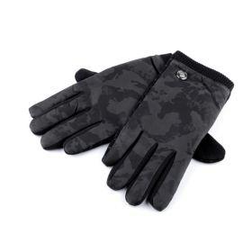 Pánské maskáčové zateplené rukavice Černé