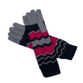 ArtOfPolo delší rukavice Cikcáky