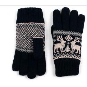 ArtOfPolo Unisex rukavice se soby Černé