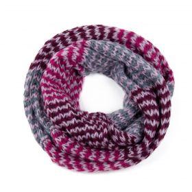 ArtOfPolo kruhový tunelový pletený šál Růžový