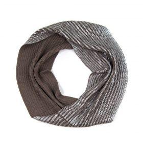 ArtOfPolo kruhový pletený šál komín Silver