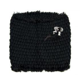 ArtOfPolo pletený elegantní komín Černý