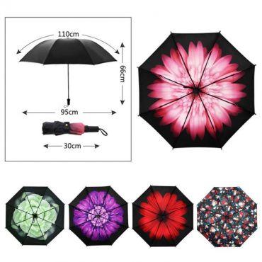 Dámský skládací deštník Barevné květy