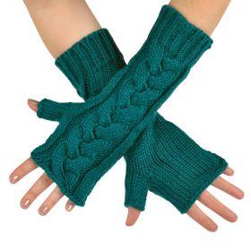 ArtOfPolo dlouhé palčáky bez prstů Zelené