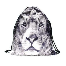 Plátěný vak s 3D potiskem Bílý lev