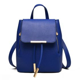 Střední stahovací batůžek Eko kůže Modrý