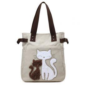 Dámská plátěná kabelka Street Cats - béžová