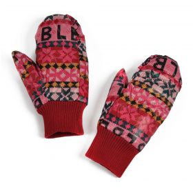 Dámské palčáky rukavice s písmeny a hvězdy