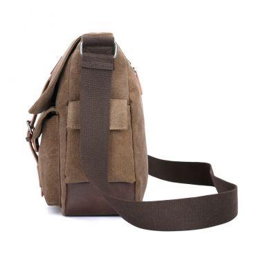 LoSmile pánská plátěná taška Travis LS1657BK Černá