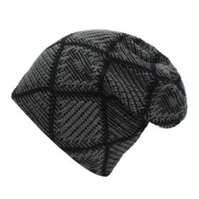 Pánská zimní čepice Knitted šedá