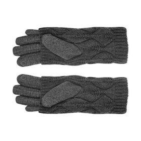 Dámské dotykové rukavice double Šedé