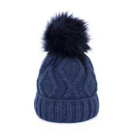 ArtOfPolo dámská zimní čepice Karo Modrá