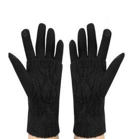 Dámské dotykové rukavice double Černé