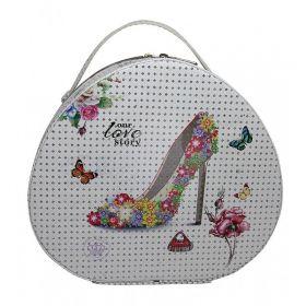 BMD kosmetický kufřík Ovál PARIS s krystalyLove to Story