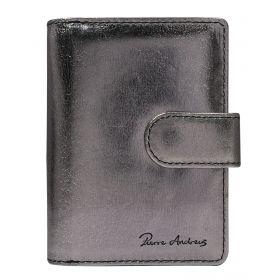 Andrens dámská kožená metalická peněženka DAN Stříbrná