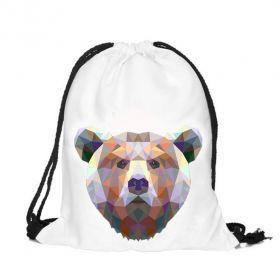 Plátěný vak s 3D potiskem Medvěd