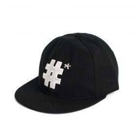 ArtOfPolo kšiltovka s vyšitým znakem hashtag Černá