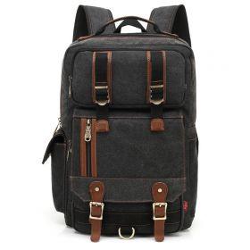 Kaukko plátěný batoh Unbreakable - Černý