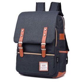RETRO Textilní batoh Mein Tmavě šedý